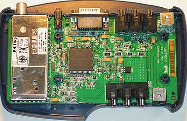 Matrox Marvel G200 break-out box from the inside