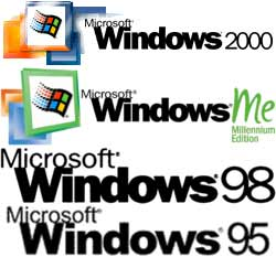 Windows 2000, ME, 98 en 25 logo's