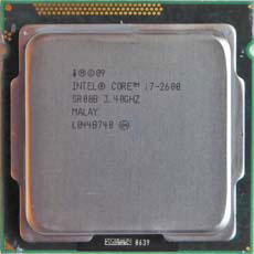 Intel Core i7-2600 SR00B 3,4GHz