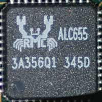 Audio chip Realtek ALC655 op Epox 8FDA3+ V3.1