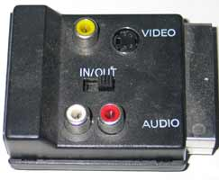 Scart audio/video adapter