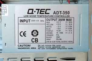 Specificatie Qtec ADT-350 computervoeding